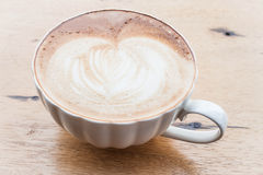 Free pour hot coffee latte art Royalty Free Stock Images
