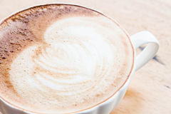 Free pour hot coffee latte art cup Stock Photos
