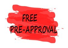 Free pre approval banner Royalty Free Stock Photo