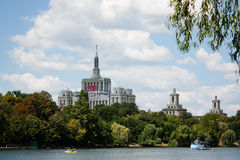 Free press house seen from Herastrau Park Stock Photo