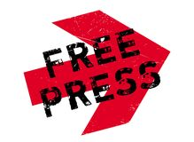 Free Press rubber stamp Royalty Free Stock Photos