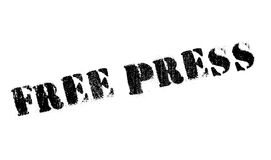 Free Press rubber stamp Royalty Free Stock Images