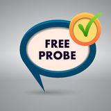 Free probe authentic label  on gray background Royalty Free Stock Photo