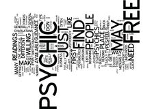 Free Psychics Text Background Word Cloud Concept Royalty Free Stock Photography
