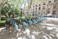 Free public rental bikes Stock Photos