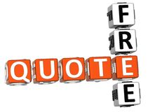 Free Quote Crossword Royalty Free Stock Photography