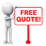 Free quote. Financial or otherwise, for property, remortgage, loan or others Royalty Free Stock Images