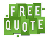 Free Quote Green Stripes Square. Free quote text alphabets written over green background Stock Image