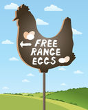 Free range egg sign Stock Photography