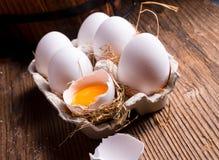 Free-range eggs Royalty Free Stock Photography