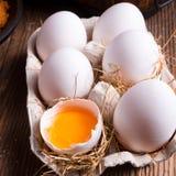 Free-range eggs Royalty Free Stock Images