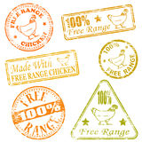 Free Range Rubber Stamps Royalty Free Stock Image