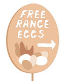 Free range sign Royalty Free Stock Image