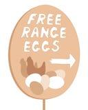 Free range sign Royalty Free Stock Image