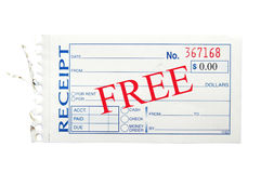 Free receipt Royalty Free Stock Photography