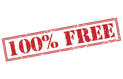 100% free red stamp. On white background royalty free illustration