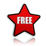 Free in red star royalty free illustration