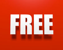 Free on red. Royalty Free Stock Images