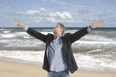 Free and relax of businessman Royalty Free Stock Image