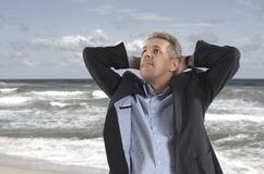 Free and relax of businessman Stock Images