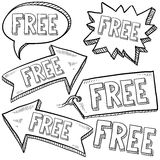 Free retail tags and banners Stock Image