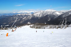 Free ride area on Chopok in Jasna ski resort Royalty Free Stock Photos