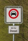 Diesel driving prohibited Stock Photography