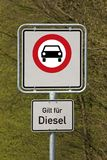 Diesel driving prohibited Stock Photo