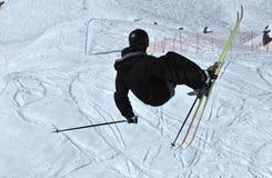 Free ride ski jumper Stock Photo