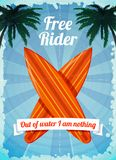 Free rider surfboards poster Stock Photo