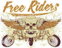 Free riders. Vector illustration ideal for printing on apparel clothes Royalty Free Stock Photos