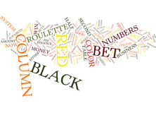 Free Roulette System That Wins Text Background  Word Cloud Concept Stock Image