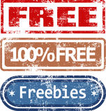 Free Rubber Stamps Set Stock Photography