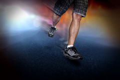 Free running. Man free running. sport concept Royalty Free Stock Images