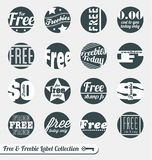 Free Sale Labels and Stickers. Collection of vintage style free sale labels and stickers Stock Images