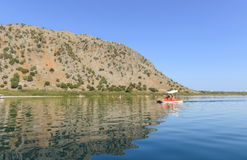 The free-salined lake Kournas. Crete. Greece Royalty Free Stock Photography