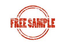 Free sample red rubber stamp Stock Image