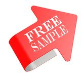 Free sample twist label Royalty Free Stock Image