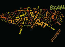Free Sat Exam Text Background  Word Cloud Concept Stock Photo