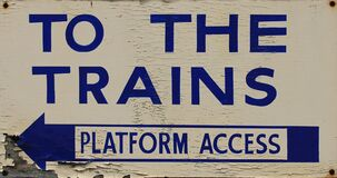 free seamless texture train sign 2 Stock Image