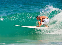 Free surfer during competition Stock Images