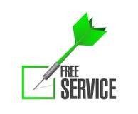 free service dart check mark Stock Photos