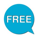 Free with shadow, Speech Bubble Royalty Free Stock Photography