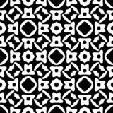 Black and white random pattern zoon in square form crating an abstract illustration, seamless design,background. Free shape and minor geometrical elements vector illustration