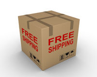 Free shipment of carton box Stock Image