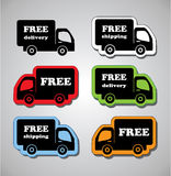 Free shippement and Delivery Stock Image