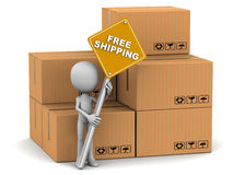 Free shipping Royalty Free Stock Image