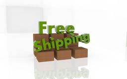 Free Free Shipping 3d Text Royalty Free Stock Images - 61214619