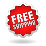 Free shipping badge concept 3d illustration Stock Image