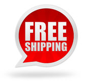 Free shipping badge concept illustration Royalty Free Stock Images
